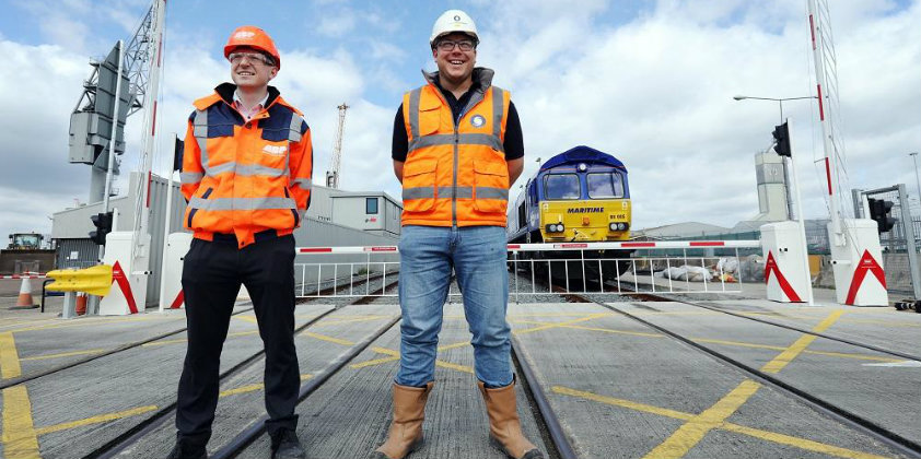 Continued rail investment at the Port of Southampton accelerates air quality improvements