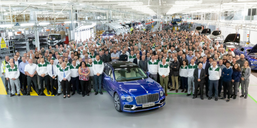 Bentley start production of all-new Flying Spur saloon