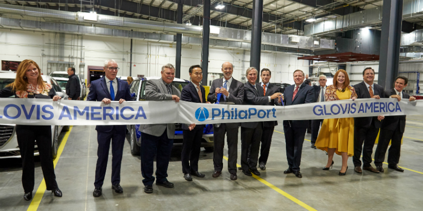 PhilaPort and partners Glovis America, Inc. celebrate official opening of the Southport Auto Terminal and Vehicle Processing Center