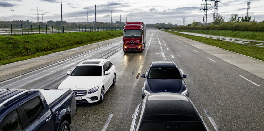 Mercedes-Benz Trucks uses new systems to drive forward truck safety