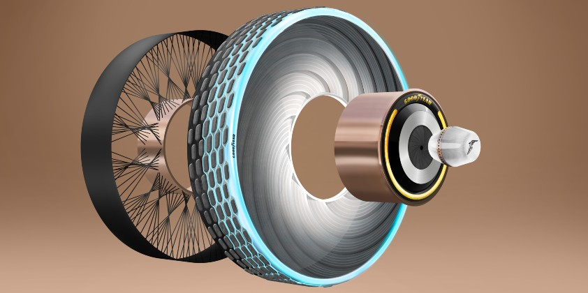 Goodyear showcases new reCharge tyre concept