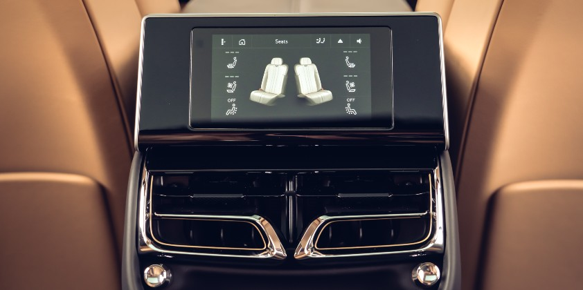 Bentley's new Flying Spur features Touch Screen Remote offering rear seat passengers with a plethora of in-car features