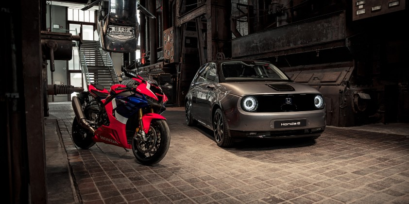 Honda e and Fireblade take centre stage at Red Dot Museum
