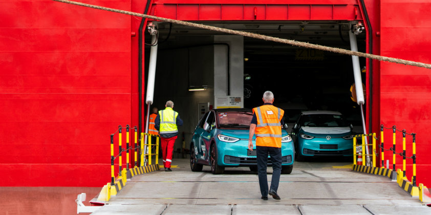 First batch of ID.3 1ST Edition cars reach the UK through the Port of Grimsby
